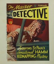 Image of 10645-2096 - Proof, Printing; Cover; John Falter; Offset Lithograph; The Master Detective; February 1934