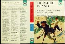 Image of 10645-2121 - Jacket, Book; John Falter; Offset Lithograph; Treasure Island; MacMillan Company