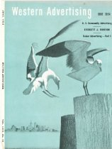 Image of 10645-2172 - Clipping, Magazine; Cover; John Falter; Offset Lithograph; Western Advertising; June 1954