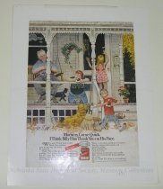 Image of 10645-2192 - Proof, Printing; John Falter; Offset Lithograph; Thank You Chocolate Pudding