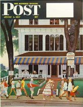 Image of 10645-2416 - Proof, Printing; John Falter; Offset Lithograph; Inn in Ogunquit; Saturday Evening Post; August 2, 1947