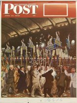 Image of 10645-2422 - Proof, Printing; John Falter; Offset Lithograph; Republican Convention; Saturday Evening Post; June 19, 1948