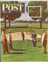 Image of 10645-2426 - Proof, Printing; John Falter; Offset Lithograph; Sand Trap; Saturday Evening Post; July 3, 1948