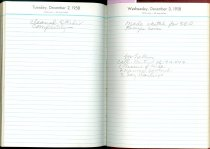 Image of RG4121.AM.S2.F14 Diary 1958 Dec 3, NSHS Archives