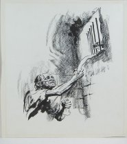 Image of 10645-3652 - Drawing; John Falter; Charcoal, Ink