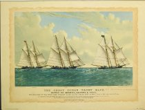 Image of 10645-3670 - Print; Charles Parsons, Nathaniel Currier; Offset Lithograph; The Great Ocean Yacht Race