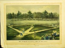 Image of 10645-3671 - Print; Nathaniel Currier, James M. Ives; Offset Lithograph; The American National Game of Base Ball