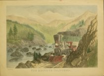 Image of 10645-3678 - Print; Nathaniel Currier, James M. Ives; Aquatint; The Route to California