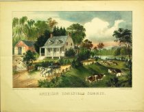 Image of 10645-3711 - Print; Nathaniel Currier, James M. Ives; Aquatint; American Homestead Summer