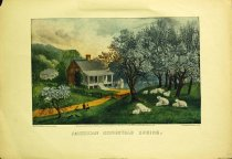 Image of 10645-3712 - Print; Nathaniel Currier, James M. Ives; Offset Lithograph; American Homestead Spring