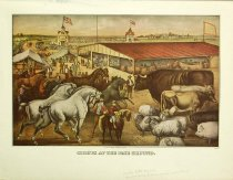 Image of 10645-3716 - Print; Nathaniel Currier, James M. Ives; Offset Lithograph; Sights at the Fair Grounds