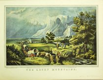 Image of 10645-3717 - Print; Nathaniel Currier, James M. Ives; Offset Lithograph; The Rocky Mountains