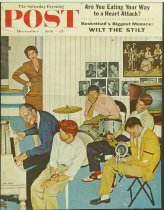 Image of 10645-3855 - Poster; John Falter; Offset Lithograph; Jamming with Dad; Saturday Evening Post; December 1, 1956