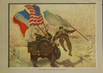 Image of 10645-4129 - Print; John Falter; Offset Lithograph; The Mission to Port Lyautey; Esquire; 1944
