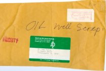 Image of RG4121.AM.S5.F184 1981Oil Well Scrap Envelope--10645-4163, NSHS Archives