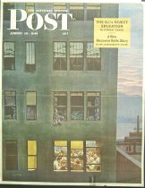 Image of 10645-4291 - Poster, Saturday Evening Post; Aug. 18, 1945, Apartment Building, John Falter
