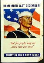 Image of 10645-4352 - Poster; John Falter; Offset Lithograph; Remember Last December!