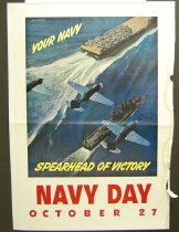 Image of 10645-4358 - Poster; John Falter; Offset Lithograph; Navy Day