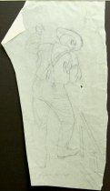 Image of 10645-4428 - Drawing, Figure for Raft, on Tracing Paper; Falter