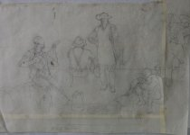 Image of 10645-4439 - Drawing, John P. Falter, The Bluffs Have Eyes