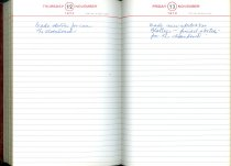 Image of RG4121.AM.S2.F27 Diary 1970 Nov 13, NSHS Archives