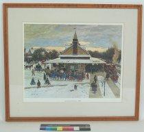 Image of 10645-4590 - Print; John Falter; Offset Lithograph; Chestnut Hill Station 1890; Framed