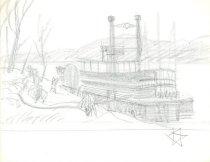 Image of 10645-5492 - Drawing; John Falter; Graphite