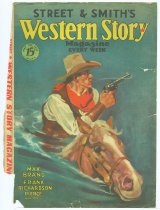 Image of 10645-5713 - Clipping, Magazine; Cover; John Falter; Offset Lithograph; Western Story; May 28, 1932