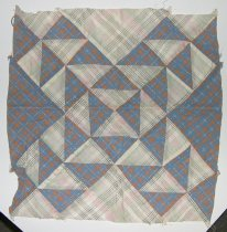 Image of 10767-21 - Quilt Block, Pieced; Old Maids Ramble