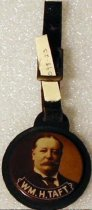 Image of 1098-23 - Watch Fob, William H. Taft; Sepia Portrait