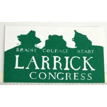 Image of 11055-2697 - Card Promoting Steve Larrick, Green Party Candidate for Congress