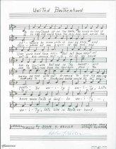 Image of 11055-1891 - Sheet Music; United Brotherhood, John F. Keller