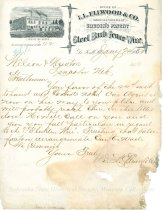 Image of 11055-2128 - Letter, I. L. Ellwood & Co., Gliddens Barb Wire; Gliddens Patent Steel Barb Wire Fence/Wilson & Newton