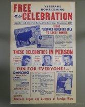 Image of 11055-2939 - Poster, Veteran's Homecoming, Lisco, Nebraska, Robert Taylor Appearing