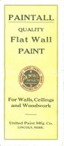 Image of 11076-17 - Brochure, Paintall Paints; United Paint Mfg. Co., Lincoln