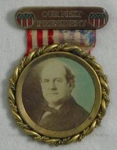 """Image of 11082-1 - Badge; William Jennings Bryan; """"Our Next President"""""""