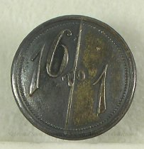"""Image of 11082-15 - Button, Polticial; William Jennings Bryan; """"16 To 1"""""""