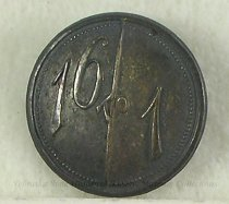 """Image of 11082-16 - Button, Political; William Jennings Bryan; """"16 To 1"""""""