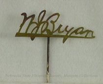 Image of 11082-38 - Stickpin; William Jennings Bryan