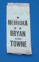 Image of 11082-42 - Ribbon, Political; William Jennings Bryan/Towne