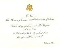 Image of 11082-52-(1) - Invitation; William Jennings Bryan, Secretary of State