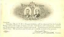 Image of 11082-56 - Postcard; William Jennings Bryan