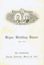 Image of 11082-60 - Program; William Jennings Bryan