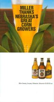 Image of 11158-6 - Card, Advertising, Miller Beer; Folds to Sit on Table