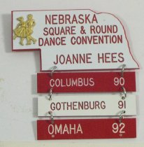 Image of 11262-56 - Name Badge, Nebraska State Square and Round Dance Convention