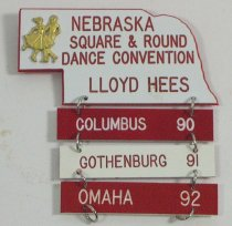 Image of 11262-57 - Name Badge, Nebraska State Square and Round Dance Convention