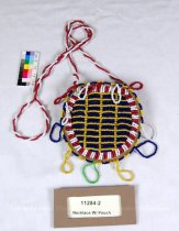 Image of 11284-2 - Necklace W/ Pouch; Beaded, Geometric