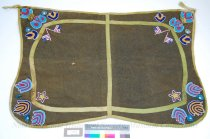 Image of 11310-15 - Blanket, Saddle; Beaded Army Blanket; US Flags