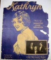 Image of 11349-1 - Sheet Music, Kathryn, Color Xerox; Harmony Boys, Robert Taylor