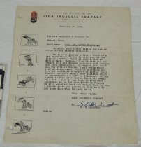 Image of 11421-45 - Letter, from Lion products Co